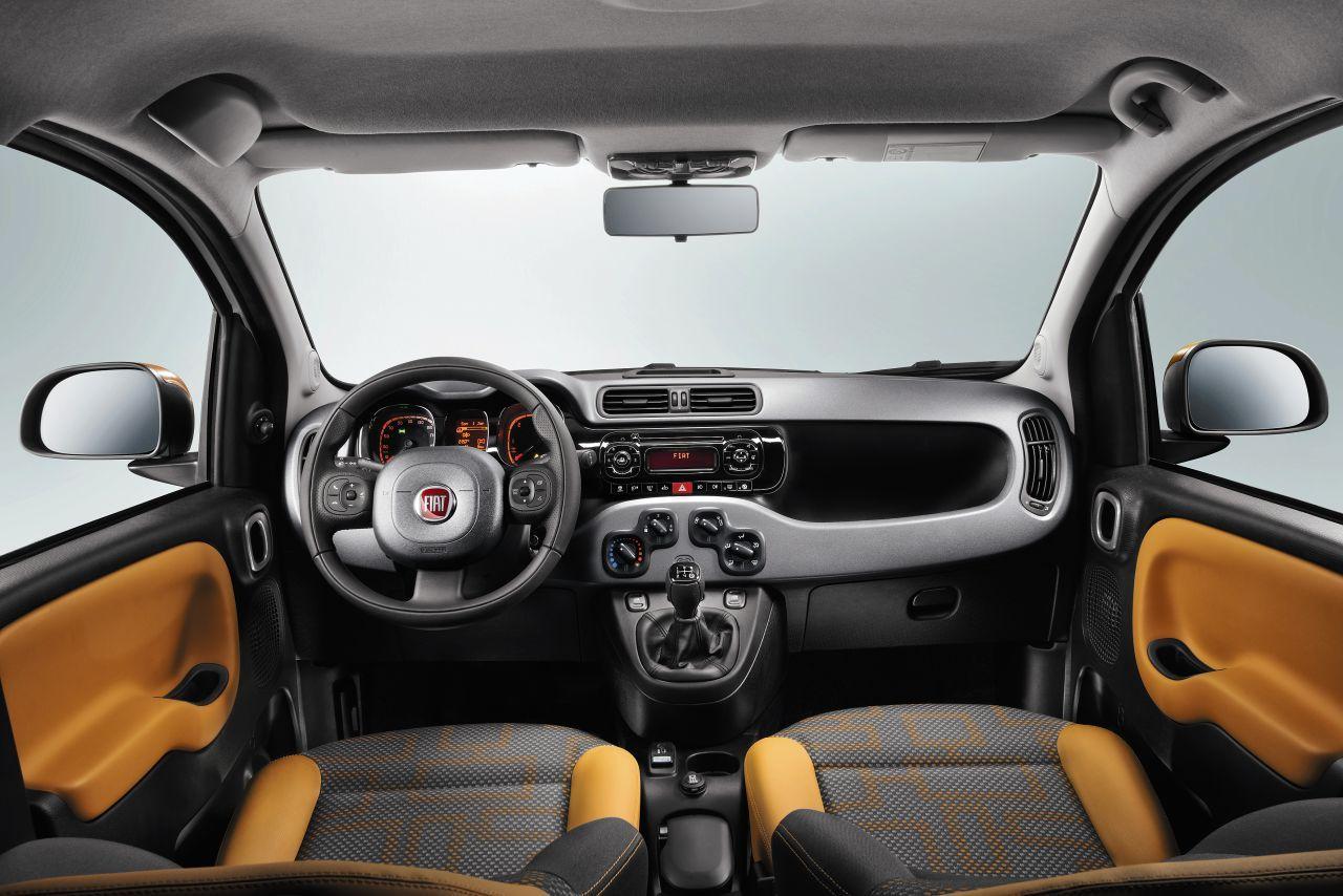 Fiat Panda interior yellow grey and black houndstooth insert ...