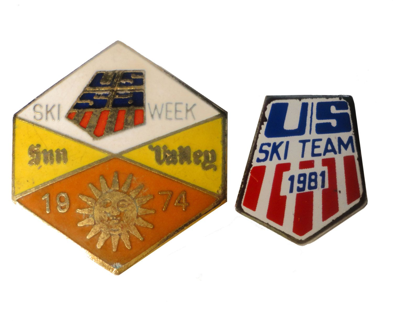 1974 1981 OLYMPiC GaMES US SKi TEAM vintage enamel pin USA ...