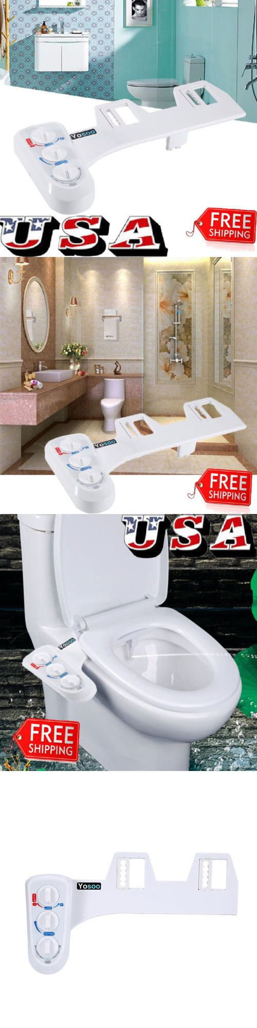 Details about Hot/Cold Toilet Seat Attachment Fresh Water