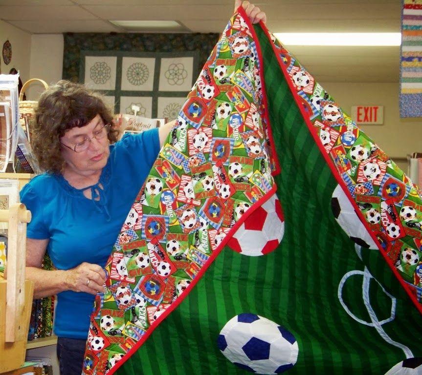 soccer quilt