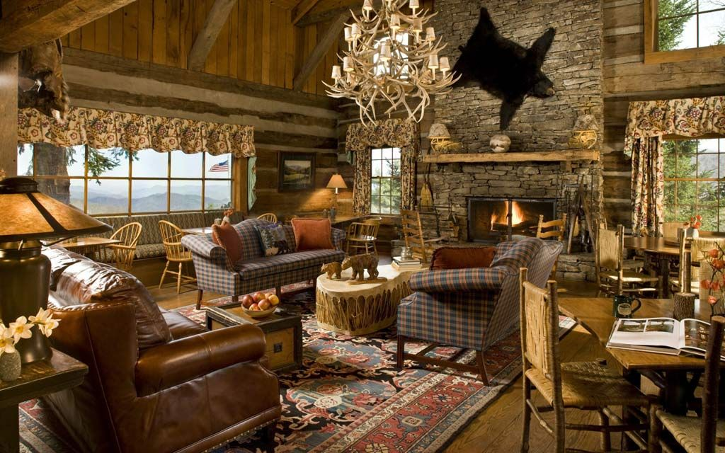 Take out the bear skin but THAT is a living room.