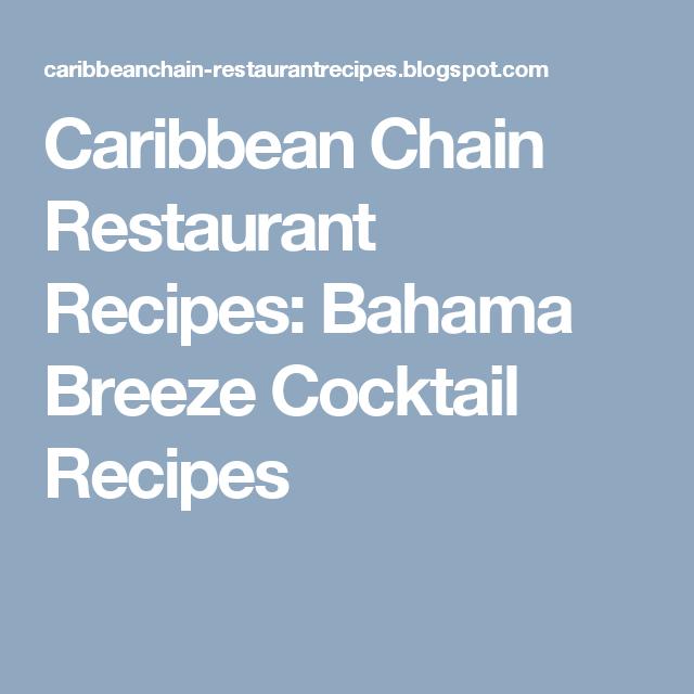 Bahama Breeze Cocktail Recipes