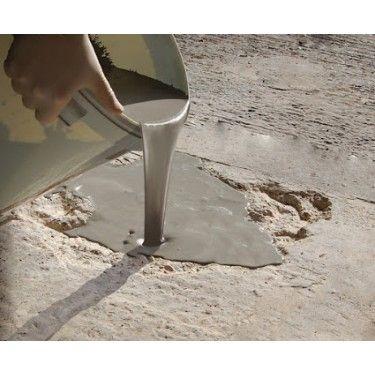 Flowpatch Being Poured Into A Hole Diy Concrete Patio Concrete Patio Cement Patio