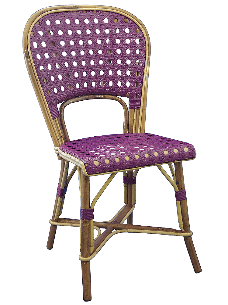 Chaise Rotin Violet Collections