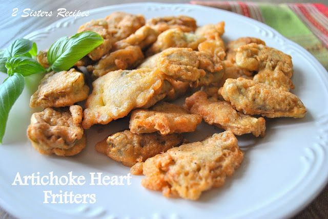 2 Sisters Recipes... by Anna and Liz: Artichoke Heart Fritters