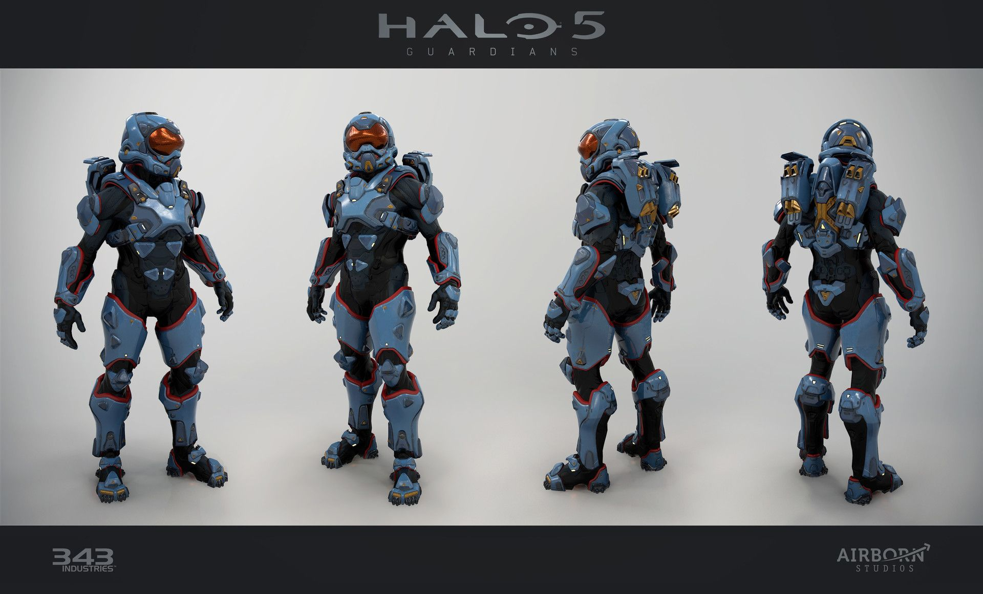 ArtStation - Halo 5 Multiplayer Armor Icarus, Airborn