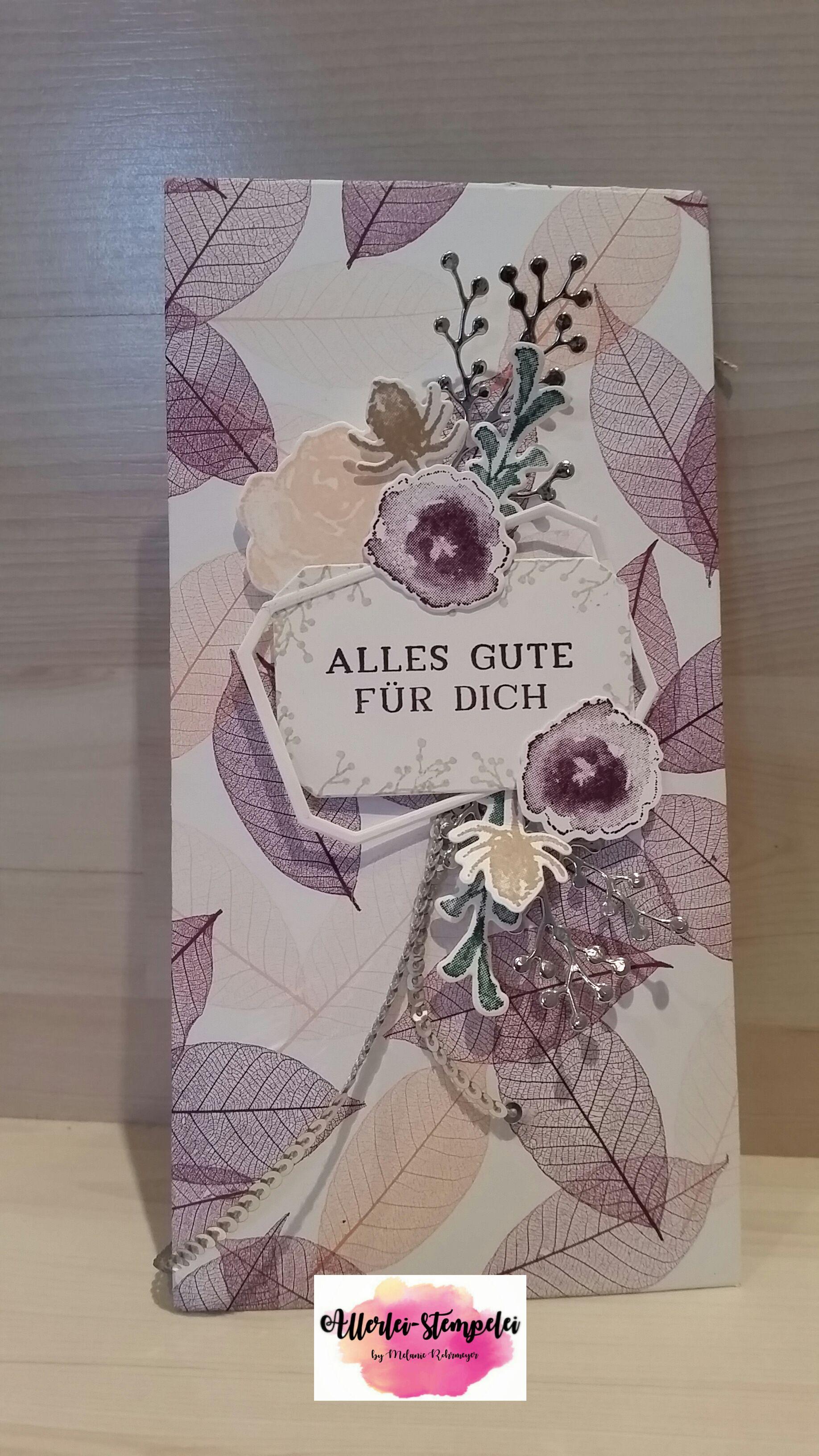 Konzert Karten hübsch verpackt.Allerlei-stempelei | Allerlei-stempelei #konzertkartenverpacken