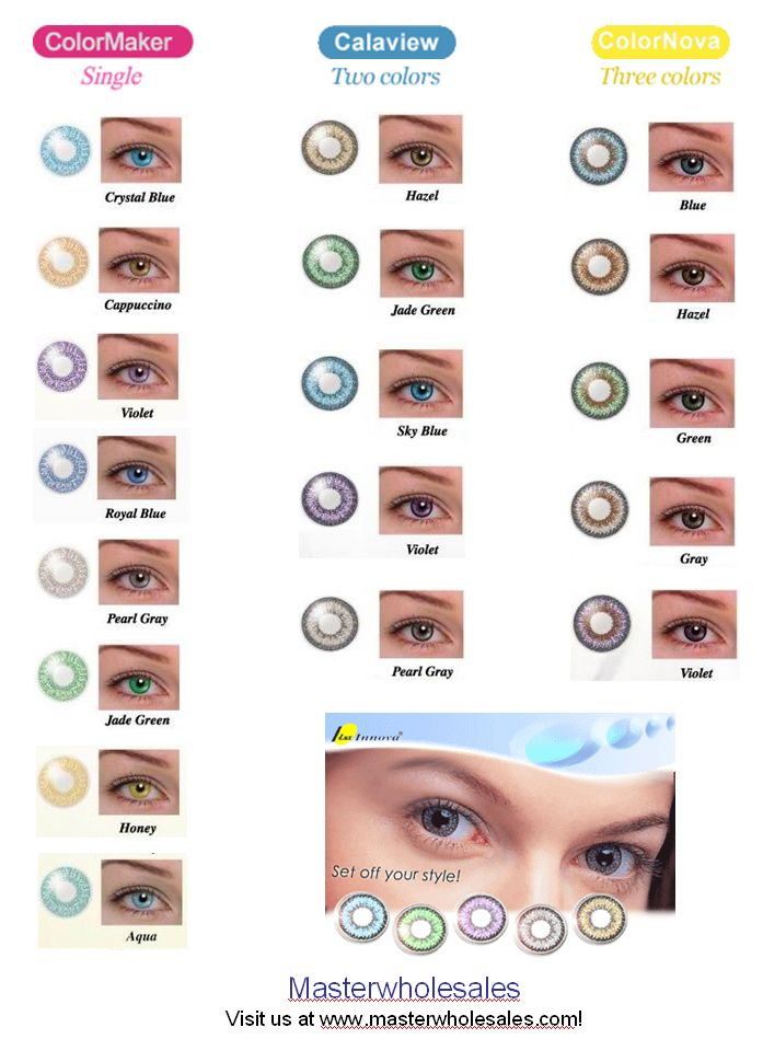 Contacts color chart luuux fashion in 2018 pinterest