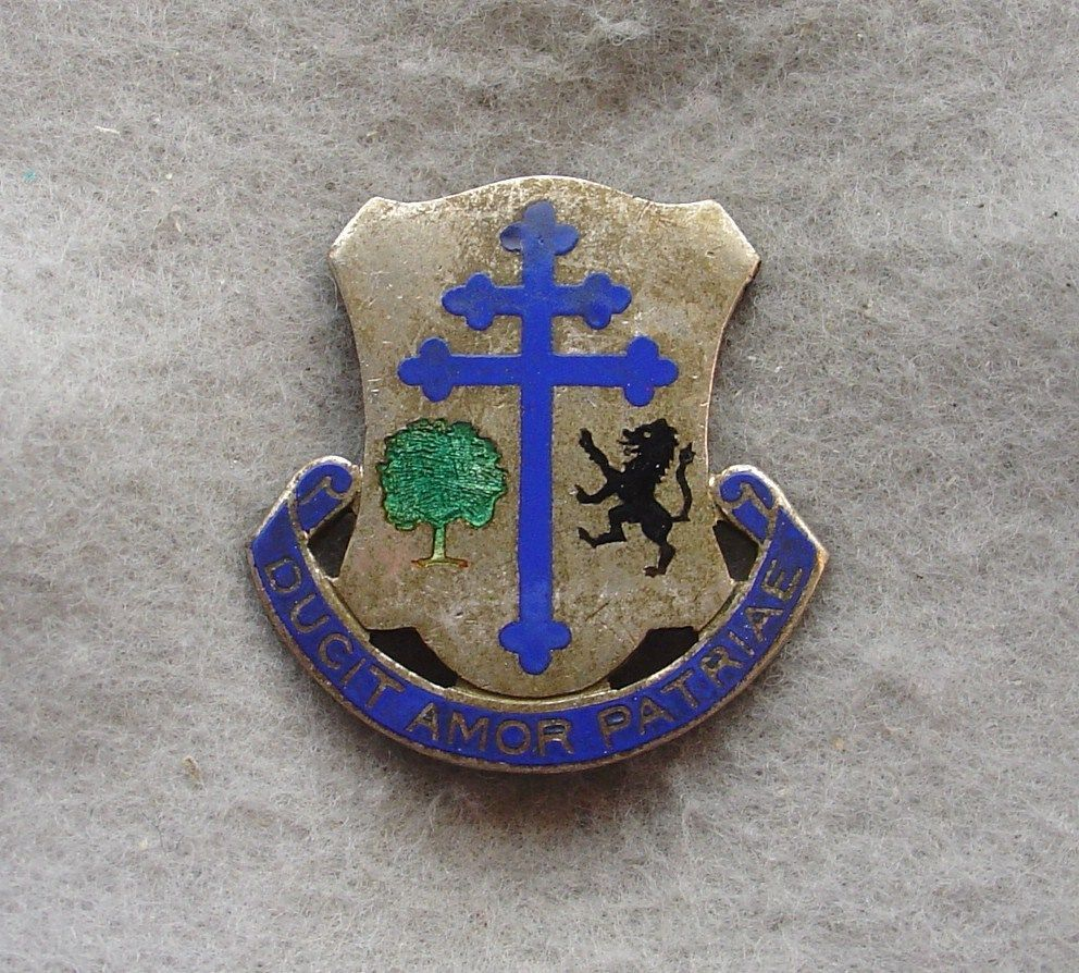 wwii occupation nd armored infantry regiment di german made us army 361st infantry regiment di dui crest pb meyer hallmark