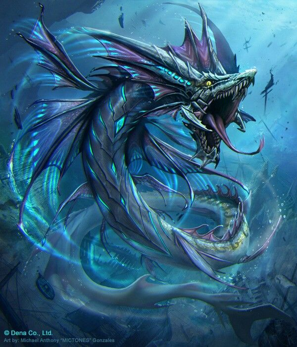 Sea Serpent. Often known as dragons of the seas, but ...