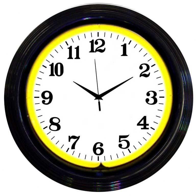 """15"""" Standard Wall Clock middleschool Neon clock, Wall"""