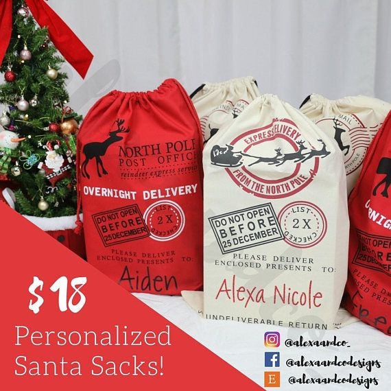 personalized santa sack looking for less clutter this holiday season