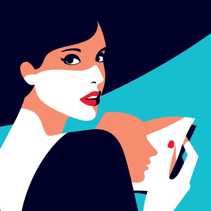 Malika favre page turner the new yorker pop art for Illustration minimaliste