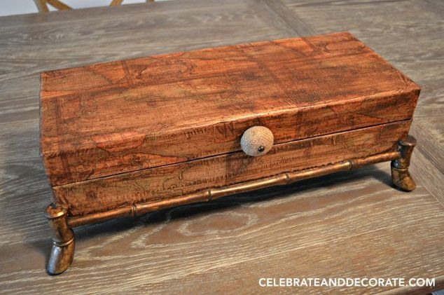Change The Look Of A Catch All Box , Decoupage, Home Decor, Repurposing  Upcycling
