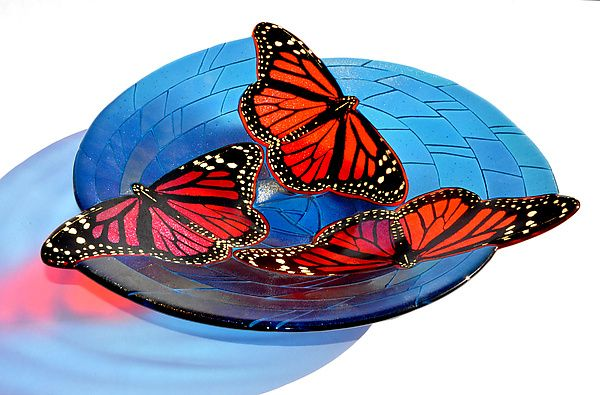 Monarch+Butterfly+Bowl by Mark+Ditzler: Art+Glass+Bowl available at www.artfulhome.com