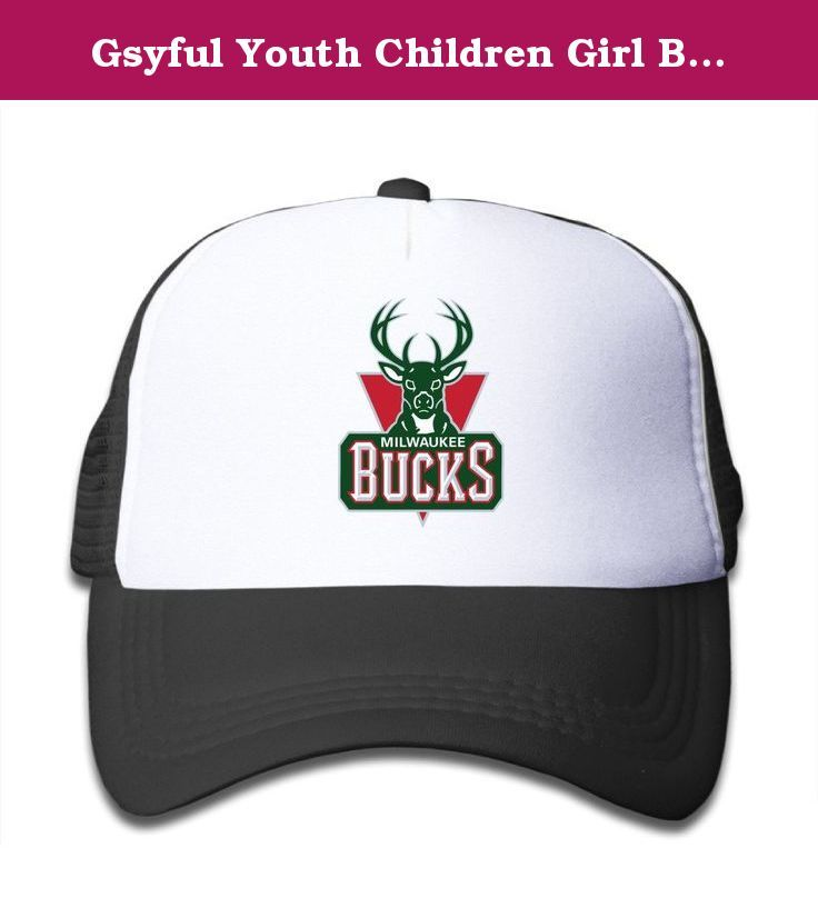 69f1e34b43c Gsyful Youth Children Girl Boy Kids Custom Spring Milwaukee Bucks Unisex  Half Mesh Adjustable Baseball Cap