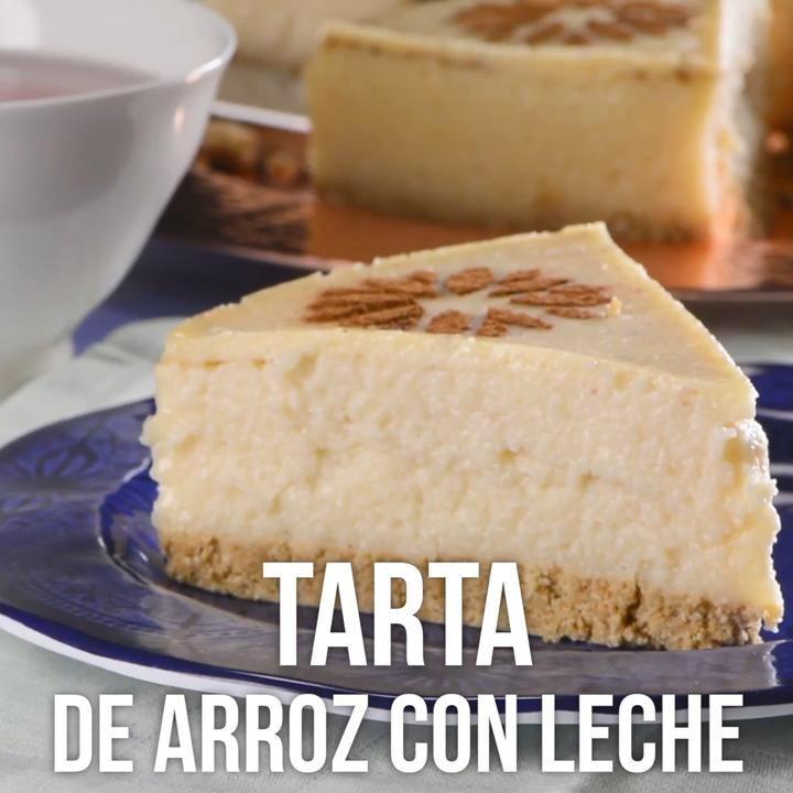 Tarta de Arroz con Leche y Galleta María