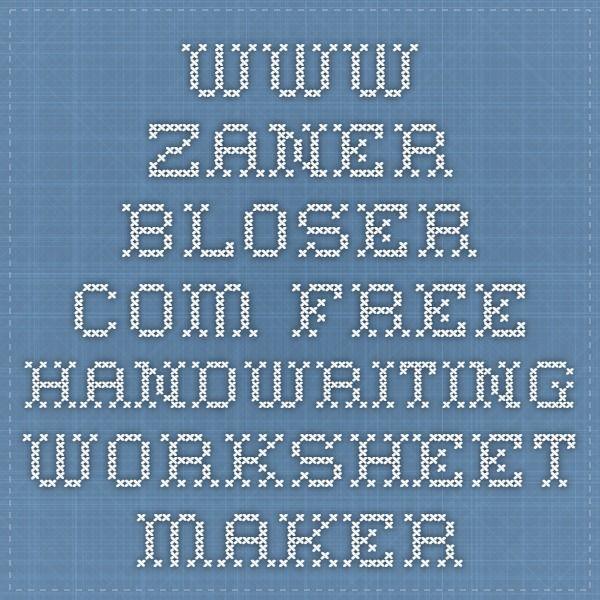 www.zaner-bloser.com - free handwriting worksheet maker | Cursive ...