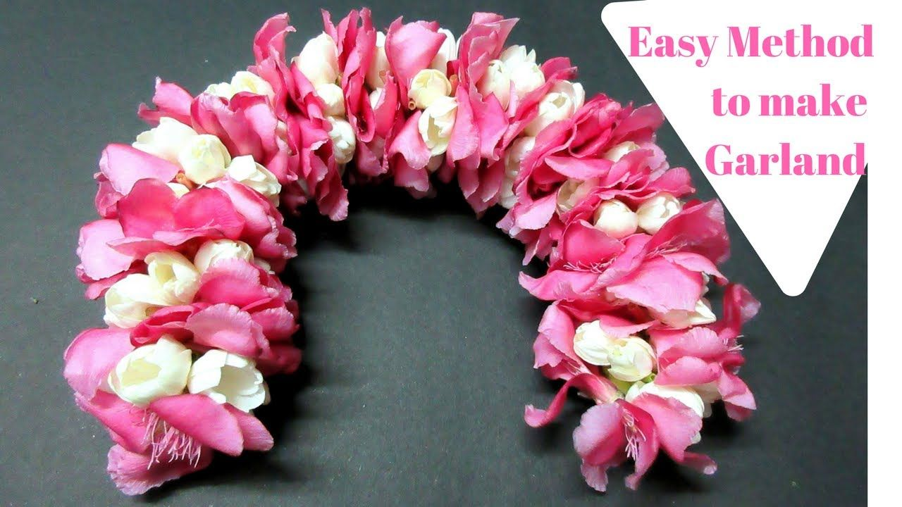Garland with arali and jasmine flowers easy jasmine flowers garland with arali and jasmine flowers easy jasmine flowers garland izmirmasajfo