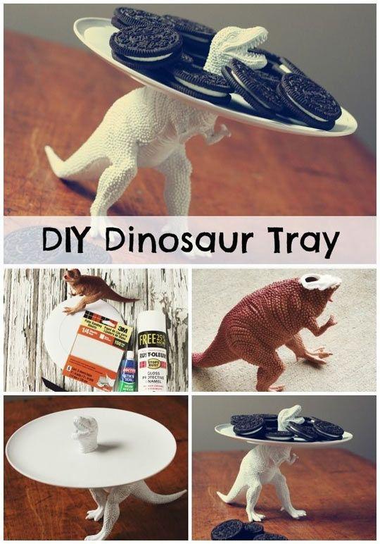DIY Tutorial: Clever Dinosaur Serving Dish! #dinosaur