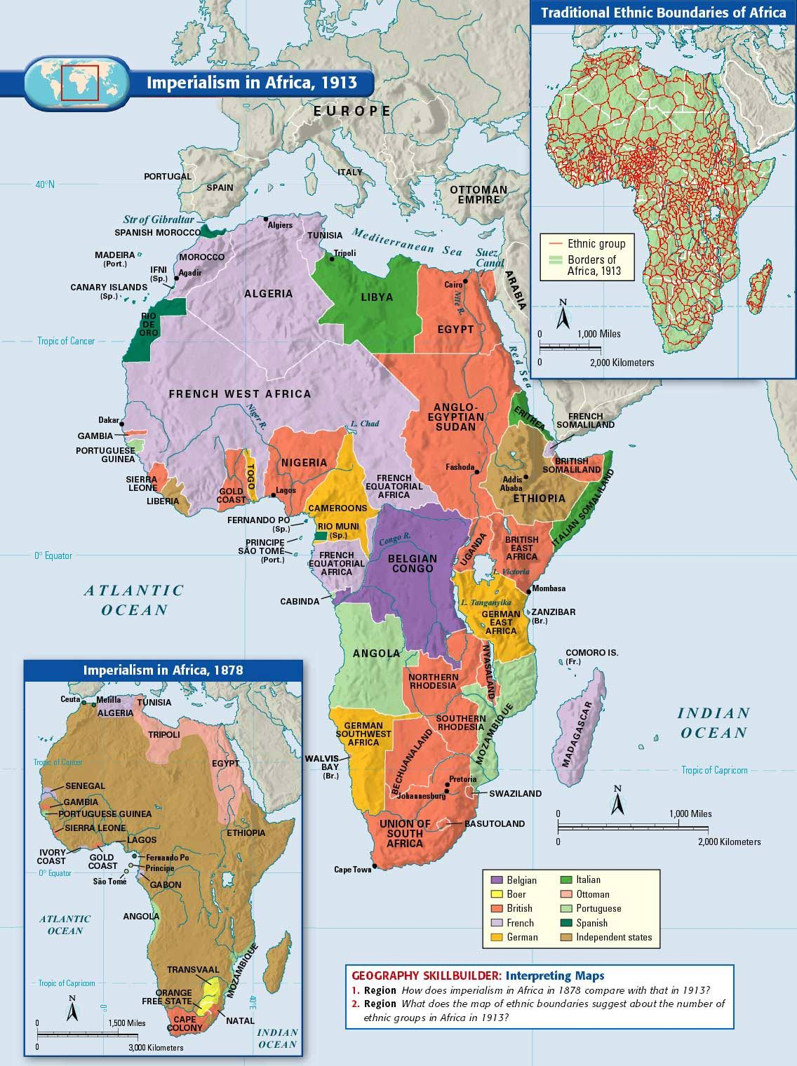 Map Of Africa During Imperialism.Imperialism In Africa 1913 Africa Map Historical Maps Map
