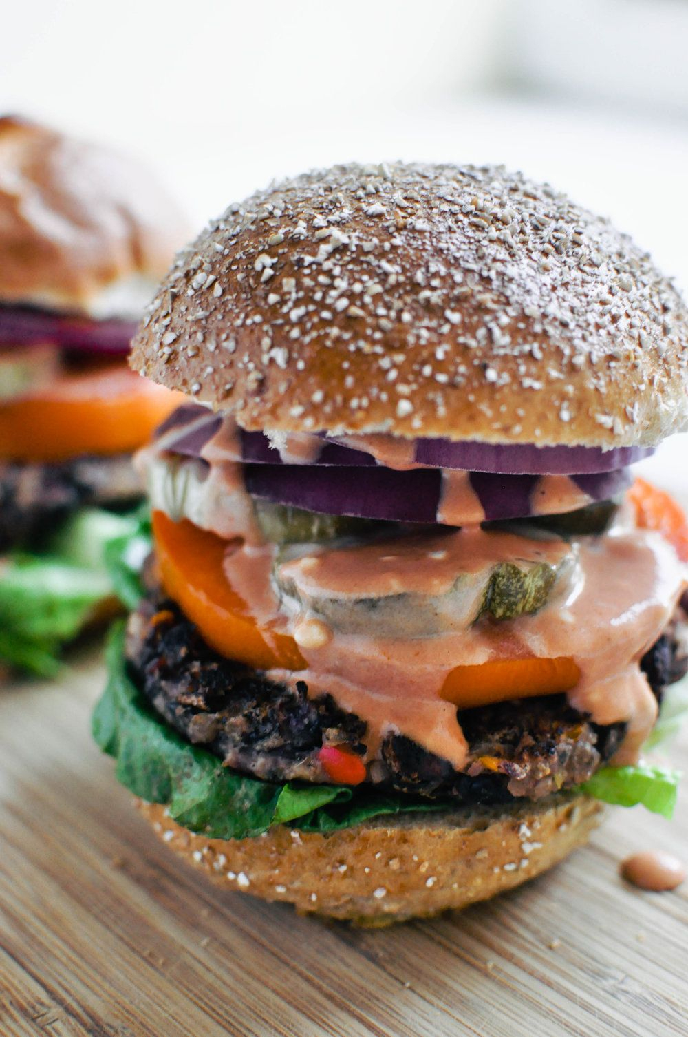 The Best Black Bean Burger This Healthy Table Recipe Bean Burger Black Bean Burgers Homemade Chicken Recipe