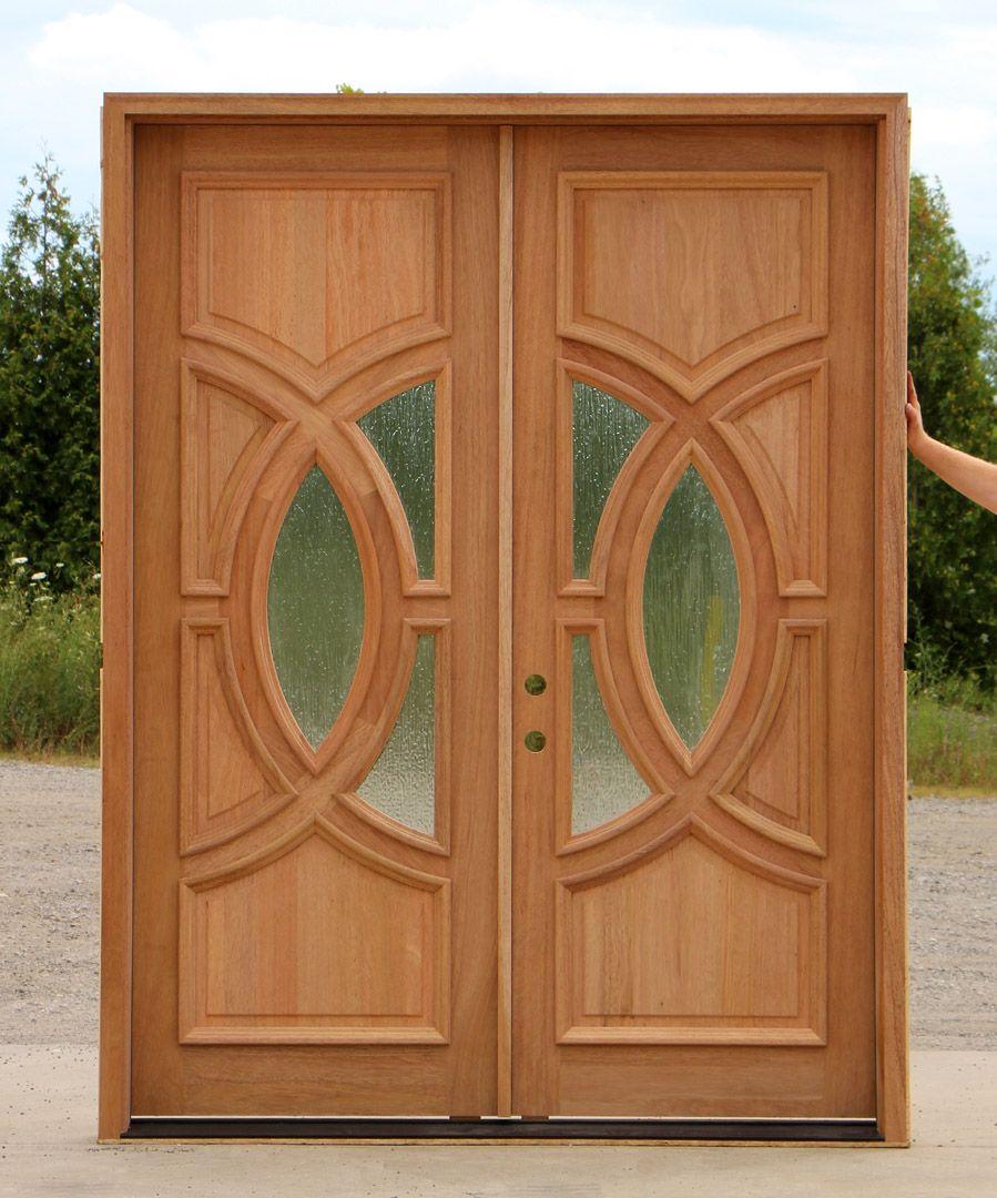 Craftsman Double Entry Doors Exterior Double Doors With Rain Glass