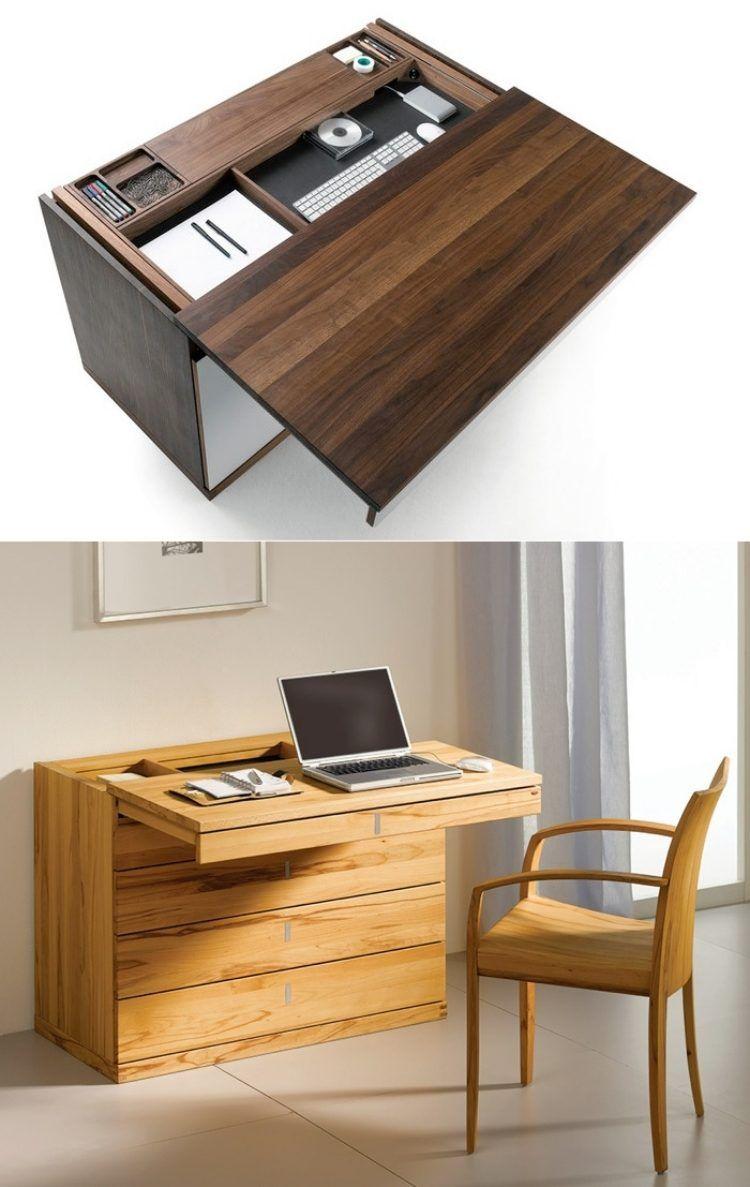 schreibtisch mit schiebbarer tischplatte und geheimfach. Black Bedroom Furniture Sets. Home Design Ideas