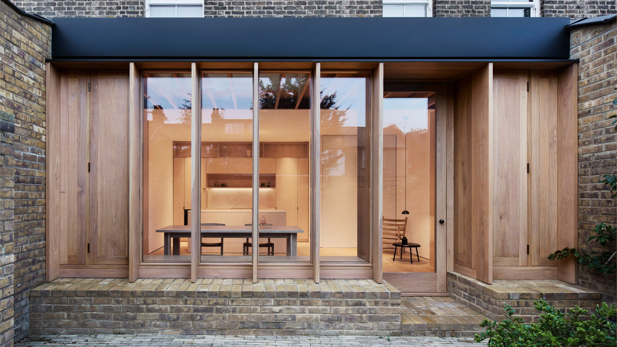 Designs modern home osullivan skoufoglou architects builds wood lined extension in london