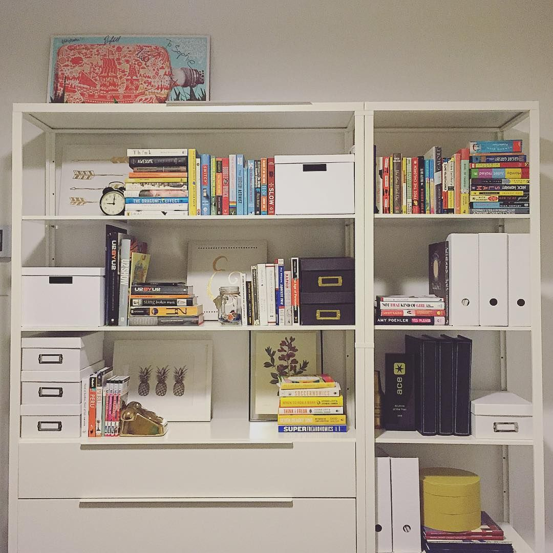 Home-office-schlafzimmer-design-ideen office bookshelf ready for action featuring signed