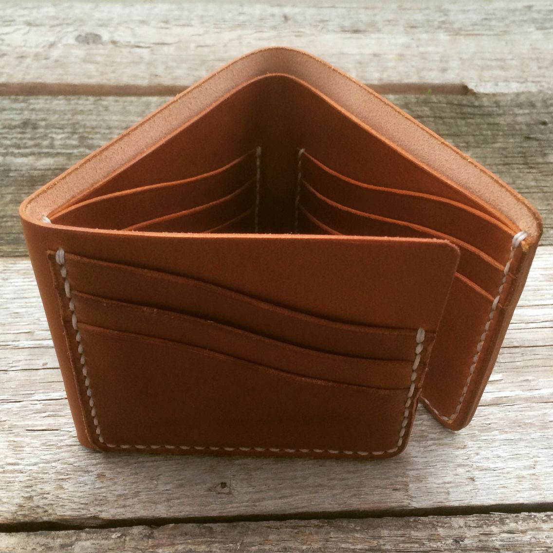Krysl Leather Goods handmade trifold wallet
