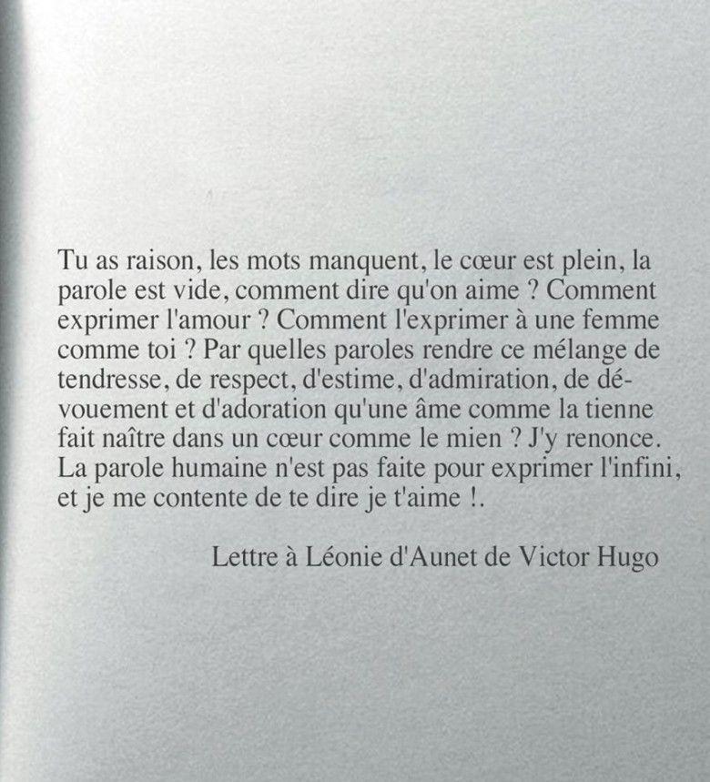 Une Lettre Damour De Victor Hugo à Son Amoureuse Magnifique