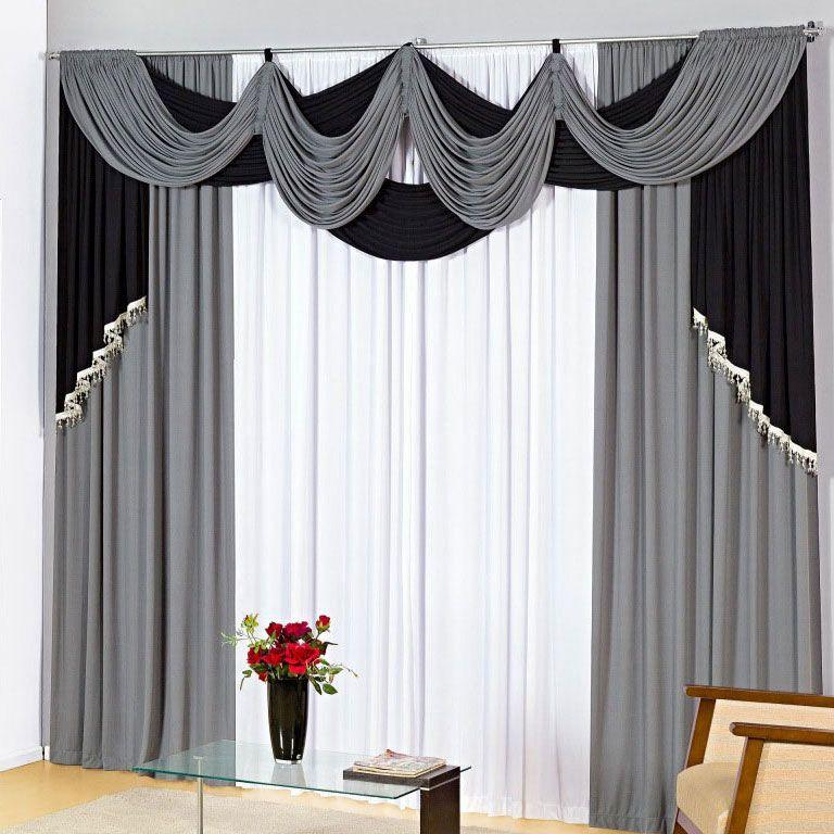 Dise os de cortinas para salas y comedores cortinas y for Decoracion de cortinas para comedor