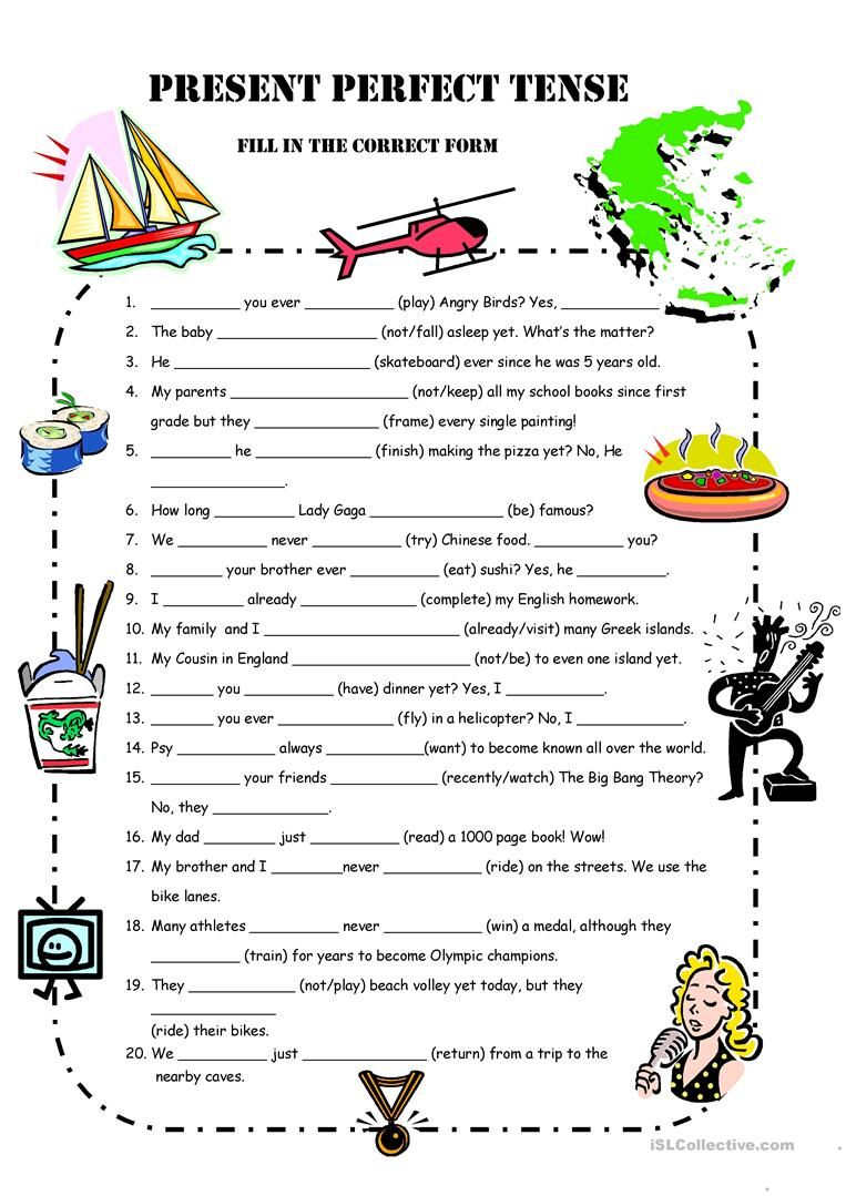 A1 Present Perfect Simple Practice Worksheet Free Esl Printable Worksheets Made By Teachers Passe Compose Apprendre L Anglais Grammaire Anglaise