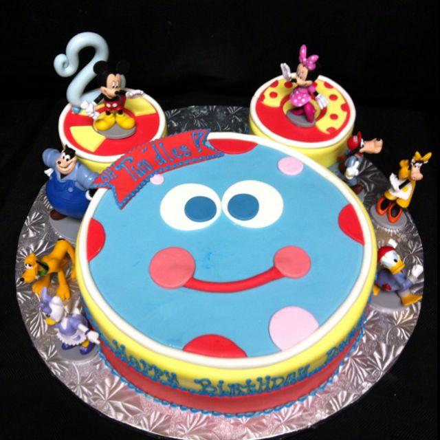 Brilliant Toodles Cake Roccos Second Birthday Party Take Three Mickey Funny Birthday Cards Online Alyptdamsfinfo