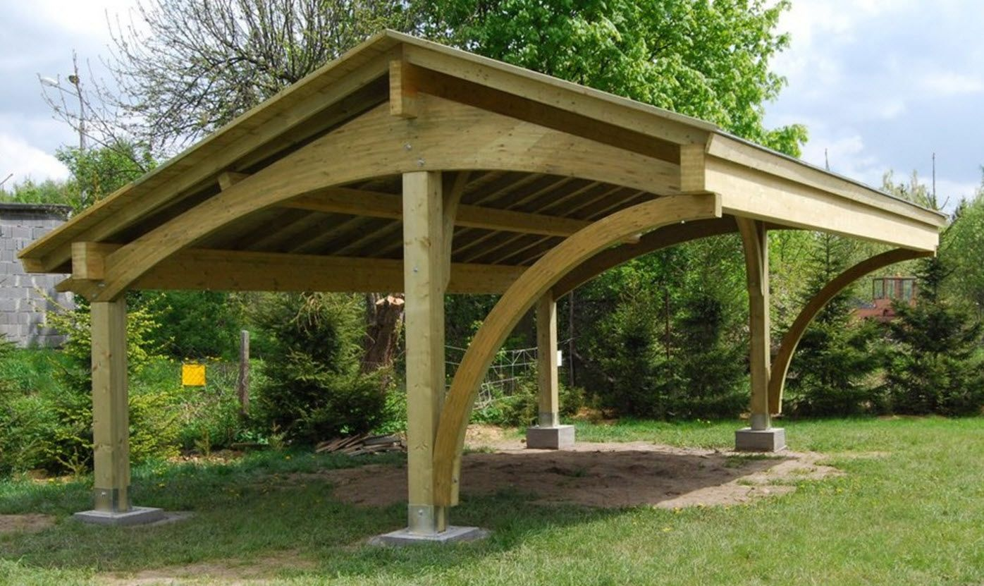 Curved Carport Why Oh Why Are All The Designs I Like Make Outside Of The Us Cuz Our Style Is Lame Http Www Ecocurv Decorazioni Pergola Giardino Pergola