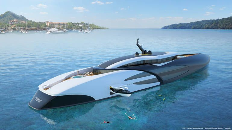 A Hybrid Submarine Superyacht Concept Nemo With Images Yacht