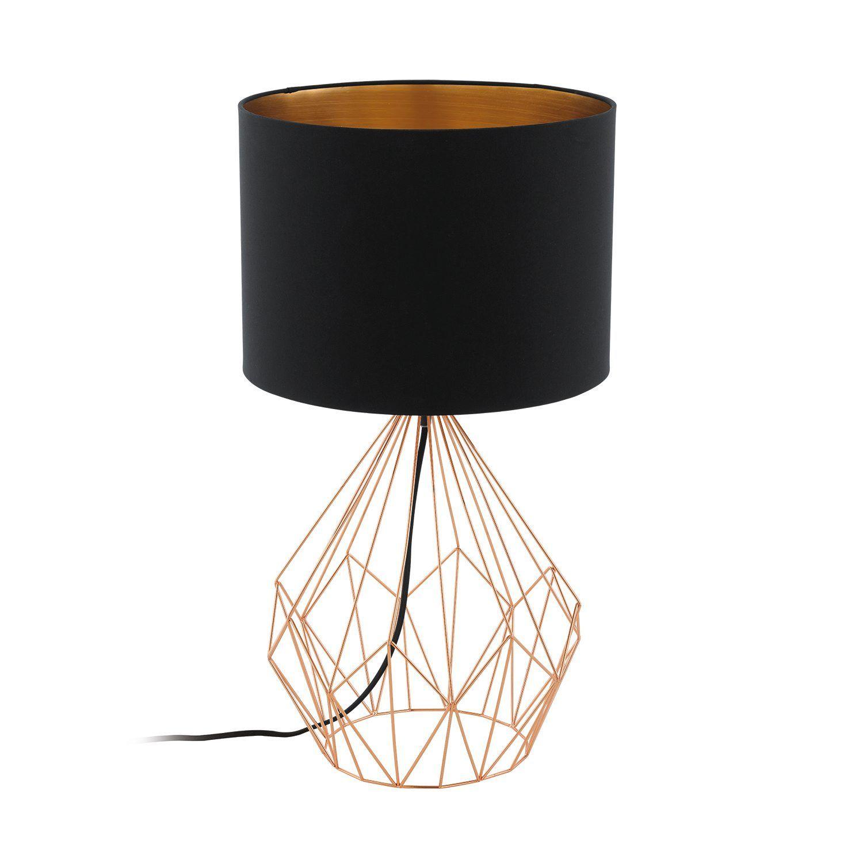 Mulshi Lampe  poser en aluminium cuivré avec abat jour H48cm