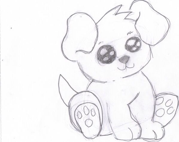 cute puppy drawing look into it s eyes like right now awesome