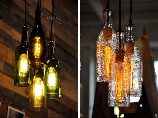 Diy Lights Of Wine Bottles Would Use Beer Bottles Of Course