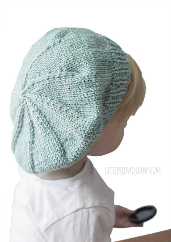 Slouchy Baby Hat Knitting Pattern Knit Beret Pattern Slouchy Hat