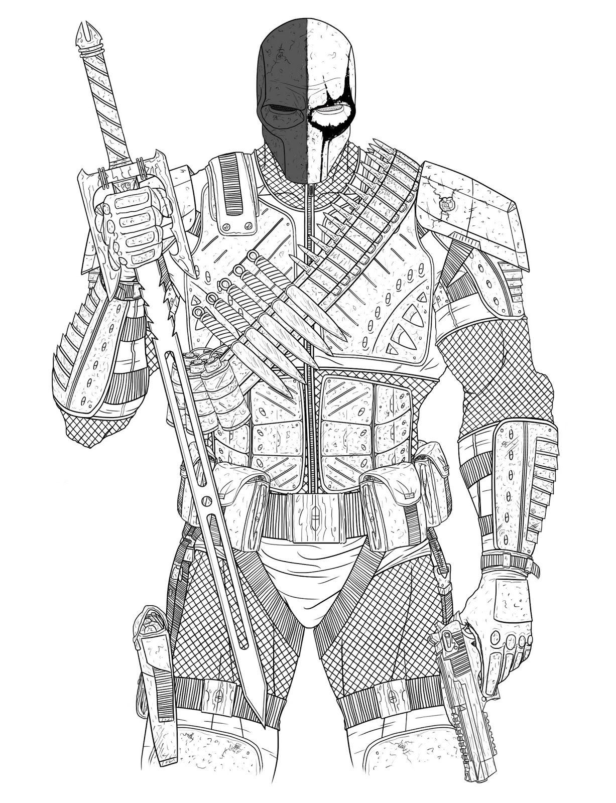 Deathstroke Digital Sketch Deathstroke Batman Coloring Pages Deathstroke The Terminator