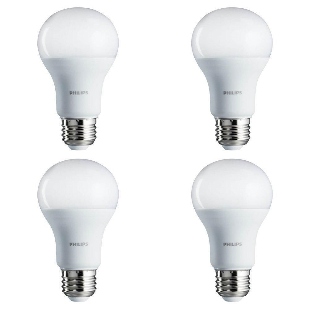 Philips Led Bulb 4 Pack 60 Watt Equivalent Daylight 5000k A19 Non Dimmable Philips Daylight Chicken Light Bulb Bulb Dimmable Led Lights