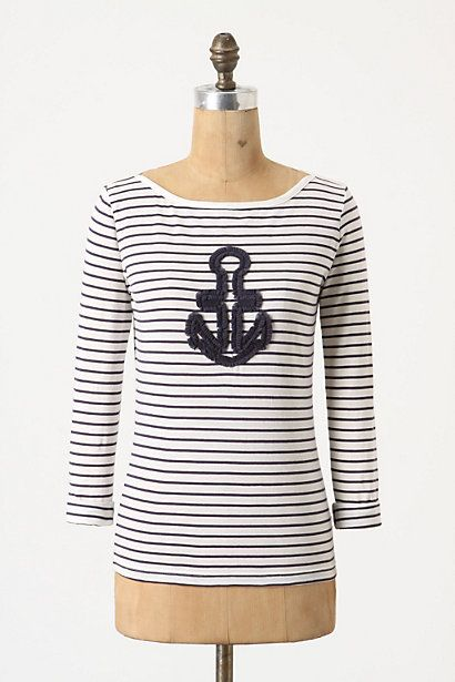 Saw this in Anthropologie yesterday.  I could sew on an anchor for less than $78.  Like.