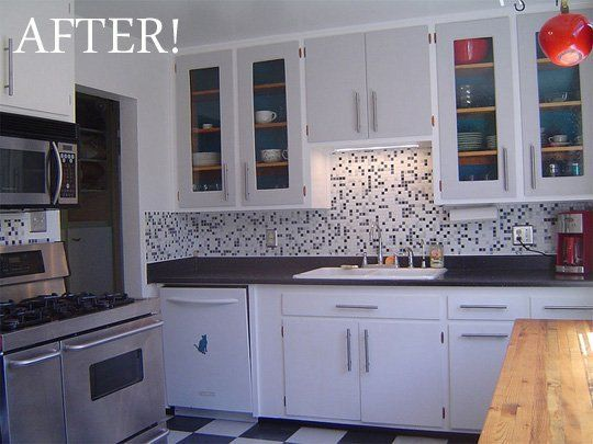 Diy Kitchen Cabinets Before And After before & after: 1950's kitchen remodel on a $15k budget - houzz