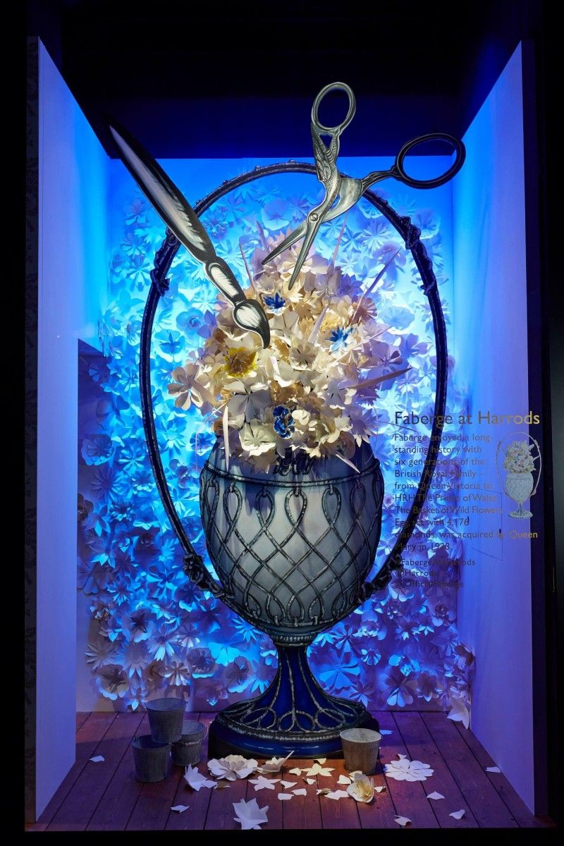 FABERGÉ EASTER WINDOW DISPLAYS AT HARRODS More photos: http://thebwd.com/faberge-easter-window-displays-harrods/
