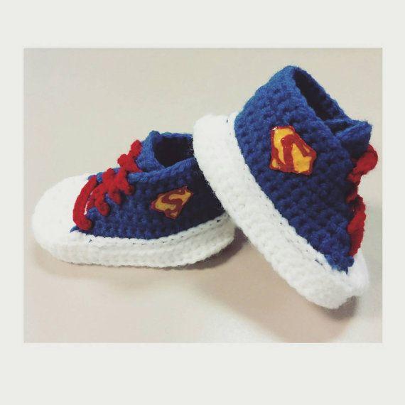 CUSTOM Handmade Crochet Blue Superman Baby by StringsandStrokes ...