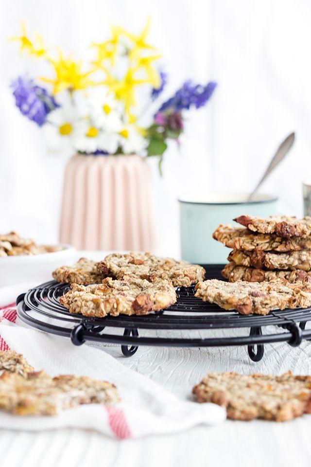 Gesunde Bananen-Haferflocken-Cookies -