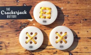 The Crackerjack Button by Make & Mercantile! A 9 hole button that you can stitch letters, numbers and symbols on! Perfect for sewing, quilting or craft projects! #makeandmercantile