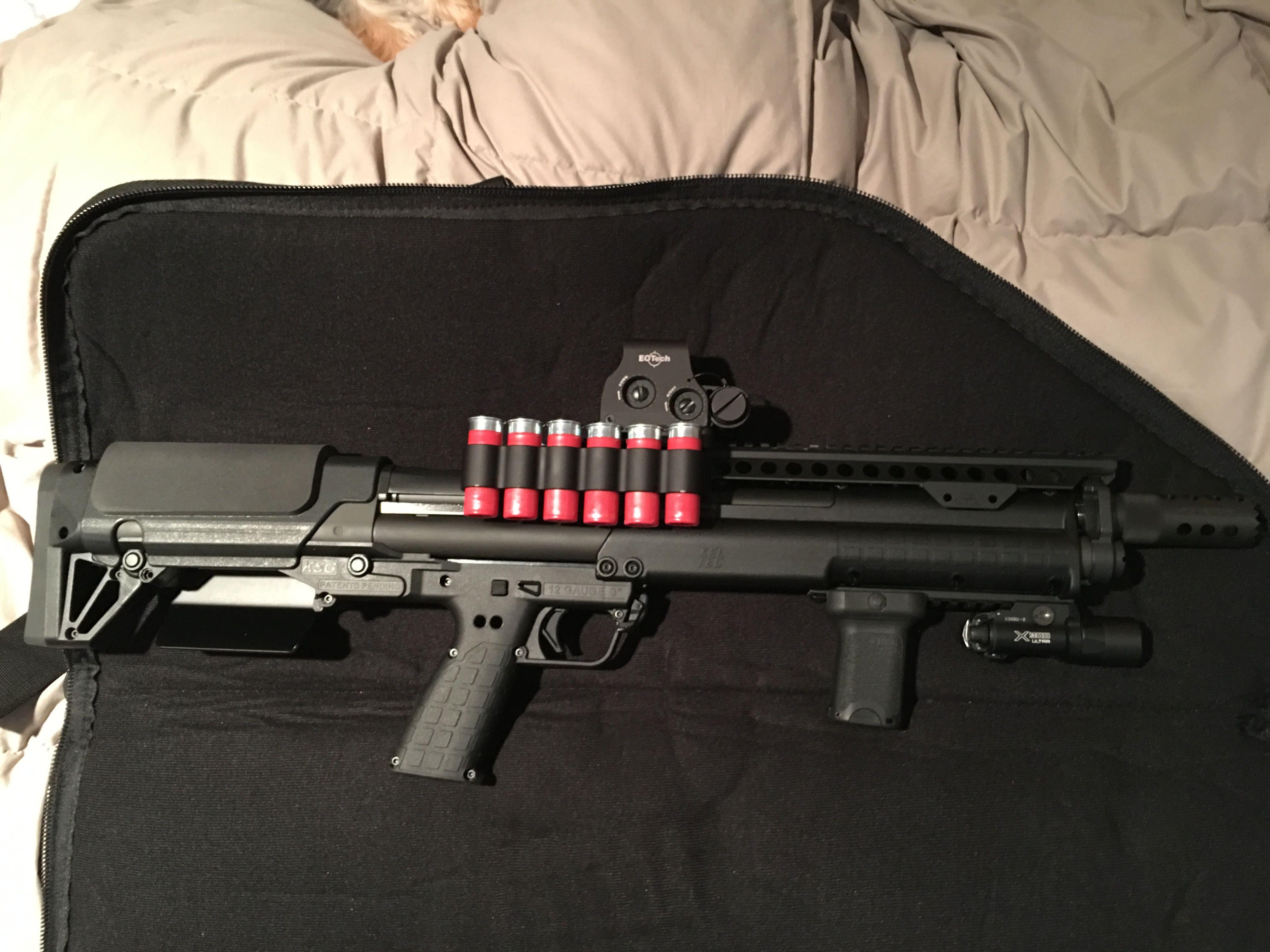 Fully Decked Out Keltec Ksg Tactical Shotgun Tiger Shotgunworldcom O Wingmaster Trigger Help Please